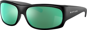 Noir opaque - Green Reflex