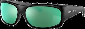 Matte Black - Green Reflex